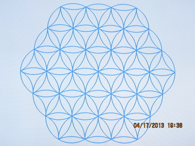 This is the flower of life. This is the perfect flow of GOD'S energy and animated life energies assembled into one life force
