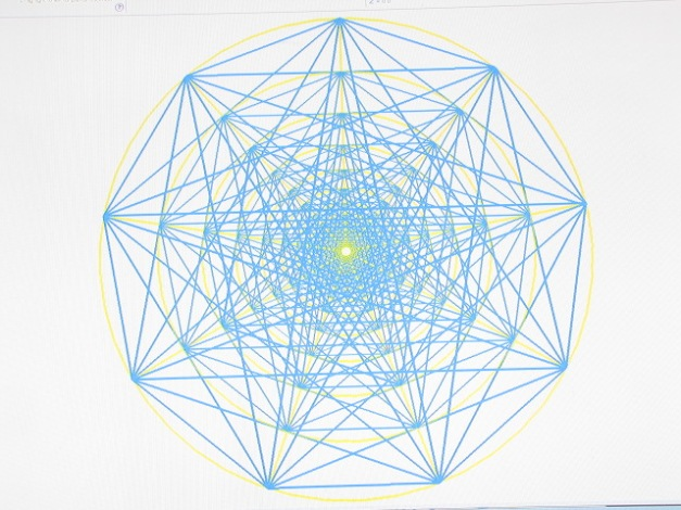 This is a 4D version of the 9 point power geometry. I love to meditate into this geometry